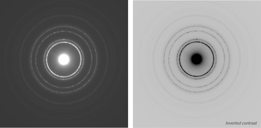 Artifact-free diffraction rings