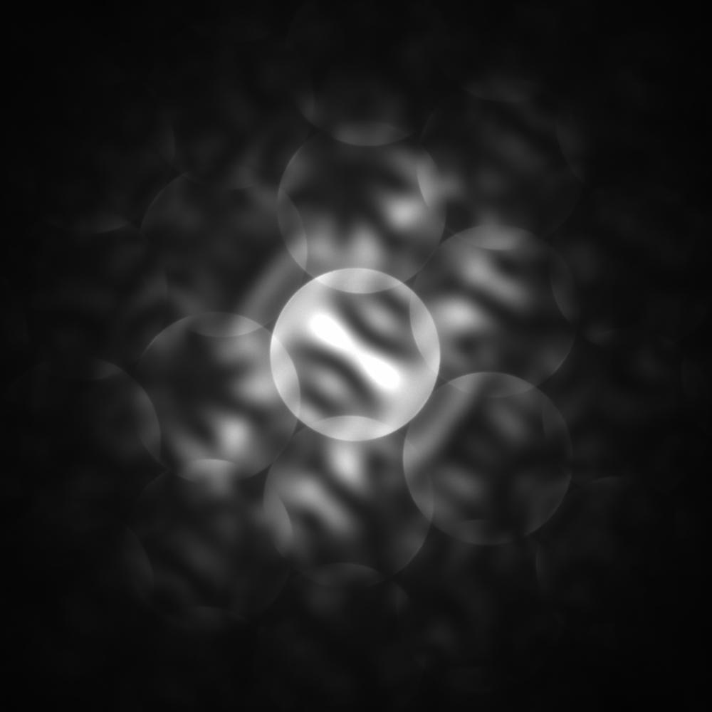[110] CBED pattern of GaN/InGaN