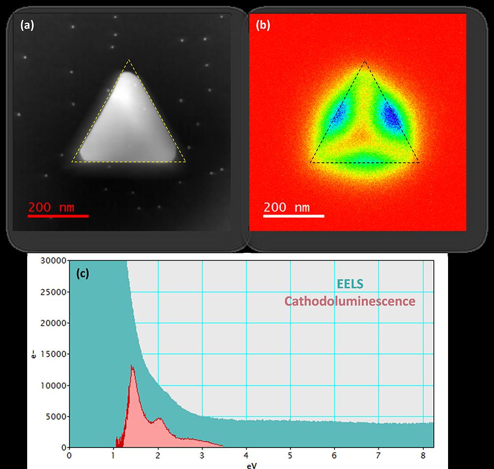 Cathodoluminescence and EELS analysis of plasmonic nanoparticles