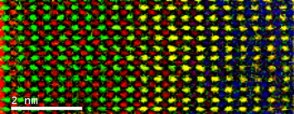 Fast atomic DualEELS color map across the SrTiO3/SrMnO4 interface
