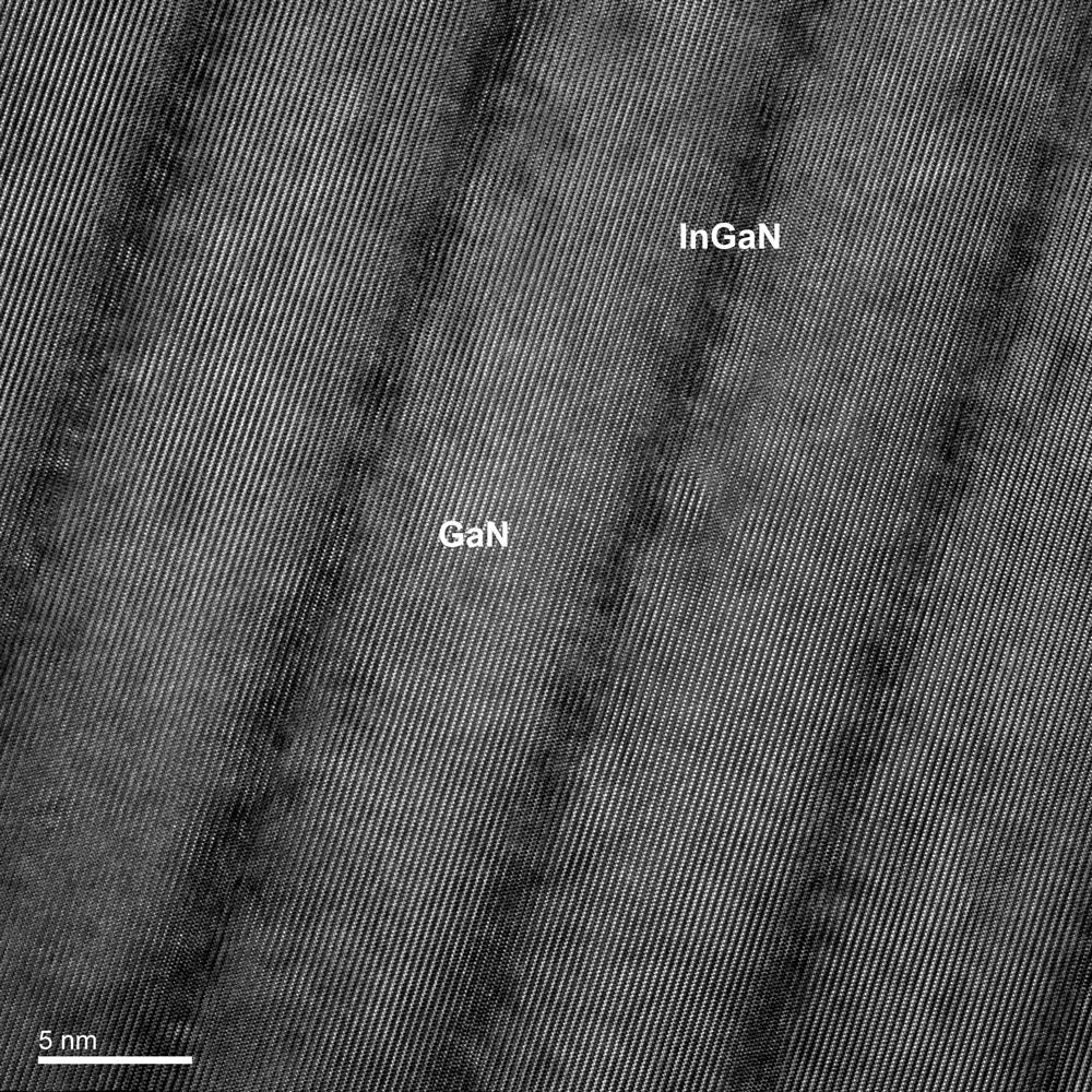 [110] high resolution image of GaN/InGaN
