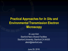 Practical approaches for in-situ and environmental transmission electron microscopy