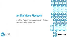 GMS 3.4 原位数据处理 :原位视频回放