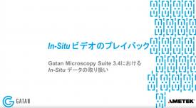 GMS 3.4におけるIn-Situデータの取り扱い:In-Situビデオのプレイバック