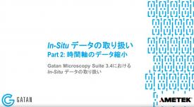 GMS 3.4におけるIn-Situデータの取り扱い:In-Situデータの取り扱い、Part 2-時間軸のデータ縮小