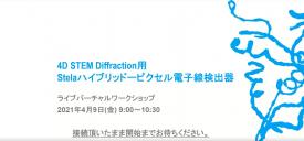 4D STEM Diffraction用Stela ハイブリッド-ピクセル電子線検出器
