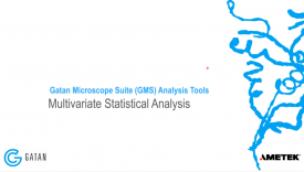 GMS 3 Analysis Tools: Multivariate Statistical Analysis