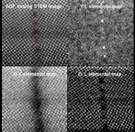 EELS analysis of metal segregation across grain boundary in Yttria-stabilized Zirconia (YSZ) – investigating oxygen vacancies
