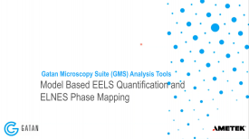 GMS 3.4 Analysis Tools: Model-based EELS quantification & ELNES phase mapping
