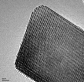 HREM image of active catalytic nanoparticle of ceria zirconia