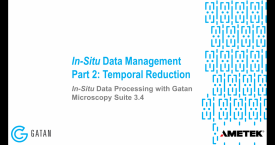 In-situ data processing with GMS 3.4: In-situ data management, Part 2 – Temporal reduction