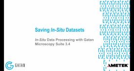 In-situ data processing with GMS 3.4: Saving in-situ datasets