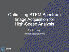 Optimizing STEM spectrum image acquisition for high speed analysis