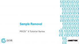 Sample removal with the PECS II