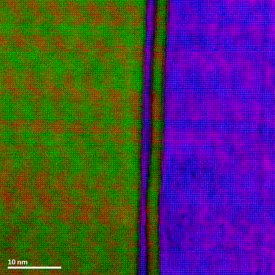 Ultrafast giant atomic EELS color map across the SrTiO3/LaMnO4 interfaces