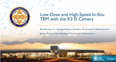 Low-Dose and High-Speed In-Situ TEM with the K3 IS Camera Webinar