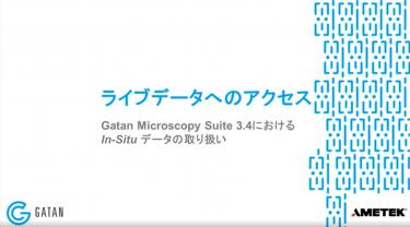 GMS 3.4におけるIn-Situデータの取り扱い:In-Situデータセットのライブ処理
