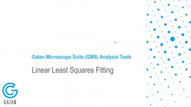 GMS 3.4 分析工具:线性最小二乘拟合