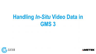 Handling In-Situ Video Data in GMS 3 Webinar