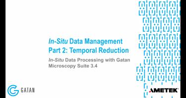 GMS 3.4 原位数据处理: 原位数据管理,第2部分 – 在时间尺度上缩减数据体量