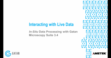 In-situ data processing with GMS 3.4: Live processing with in-situ datasets