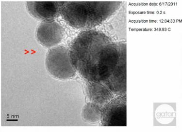 纳米颗粒的聚结