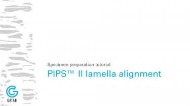采用PIPS II系统进行FIB样品清洗时使用X,Y载样台进行样品装调的教程;