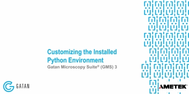 Customizing the Installed Python Environment