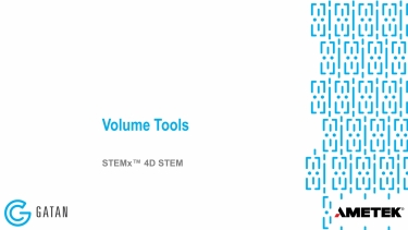 4D STEM volume tools
