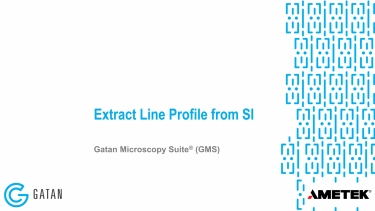 Extract line profile from spectrum image