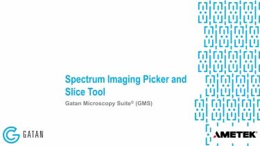Spectrum Imaging Picker and Slice Tool